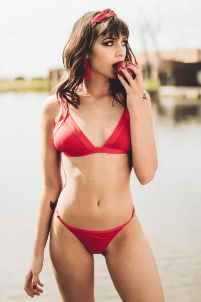 bikini roja verano 2019 - Loviu