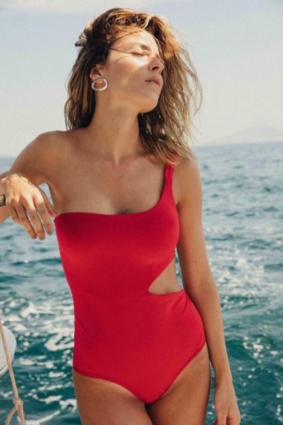 malla enteriza roja verano 2019 Odisea Swimwear