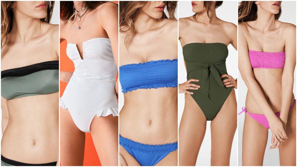 Trajes de baño Mallas enterizas y bikinis bandao verano 2020