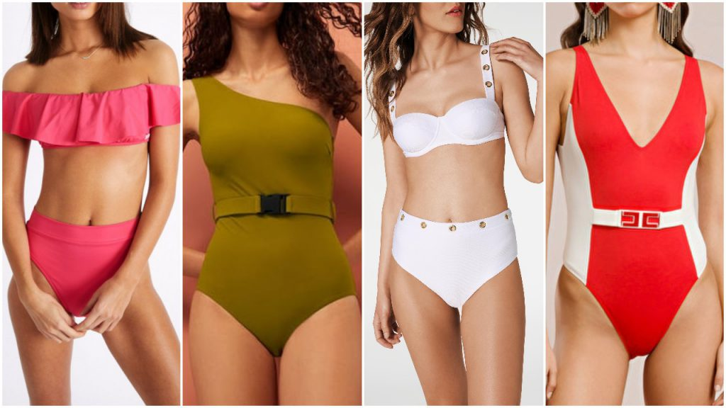 Trajes de baño Mallas enterizas y bikinis retro verano 2020
