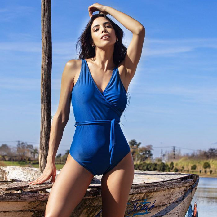 Malla enteriza azul verano 2020 Natubel