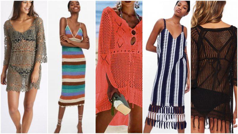 Vestidos crochet para playa verano 2020 Tendencia Argentina