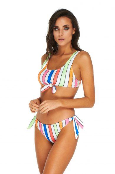 bikini a rayas mulricolor verano 2020 Luz de mar