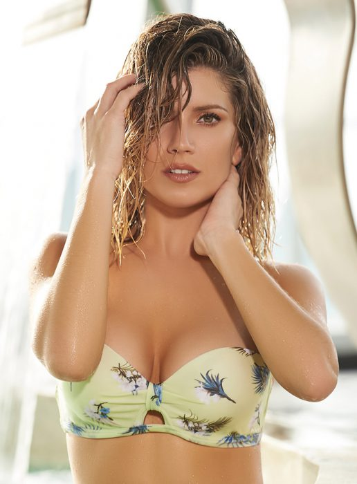 Bikini estampada strapless verano 2020 Kaury