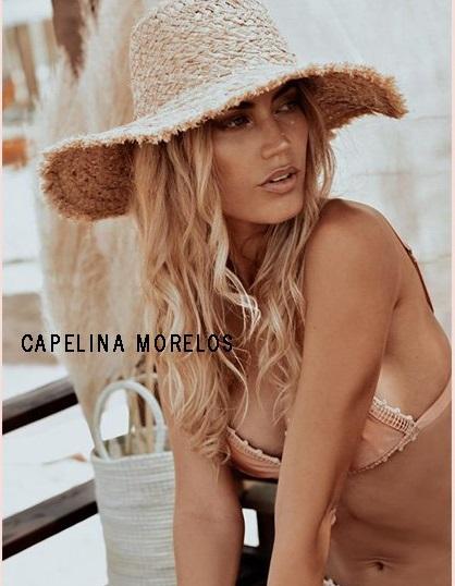 Capelina de yute rustica para mujer verano 2020 Compañía de Sombreros