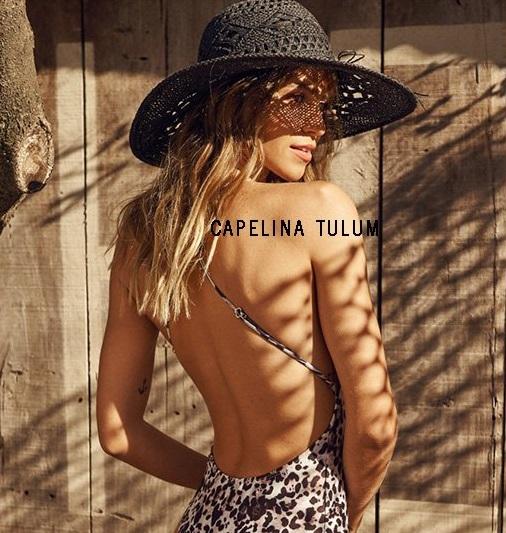 Sombreros capelina negra para mujer verano 2020 Look Playa Compañia de Sombreros