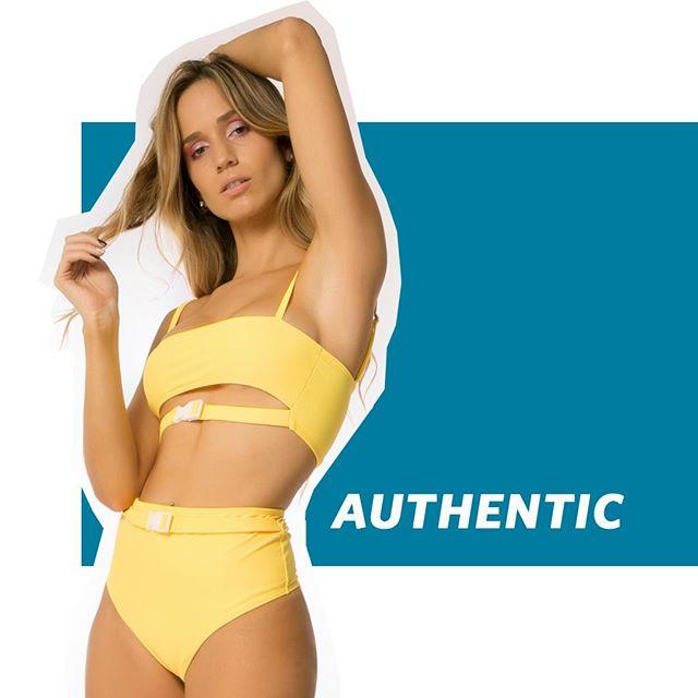 bikini amarilla con cinto verano 2020 Biznet