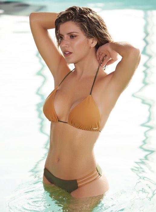 bikini triangulo naranja verano 2020 Kaury