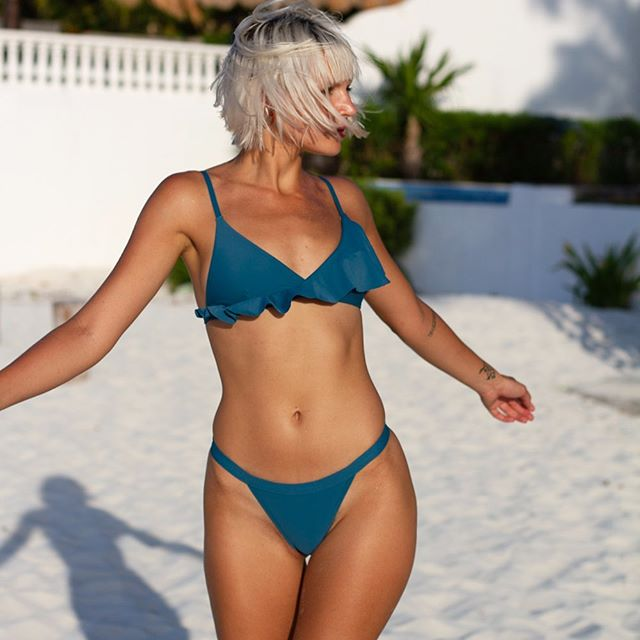 bikini verde petroleo verano 2020 Bonga