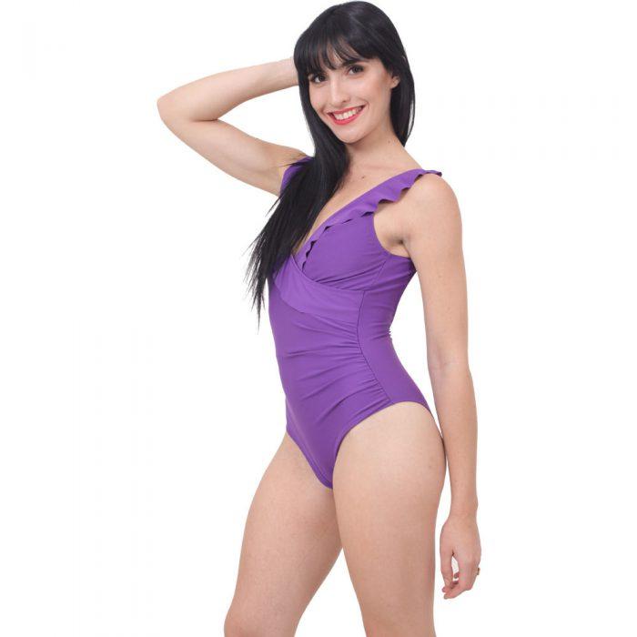 traje de baño enterizo purpura Pimalu verano 2020