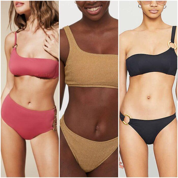 Bikinis de un solo hombro moda verano 2021