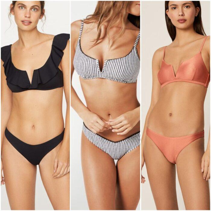 bikini con tajo moda verano 2021