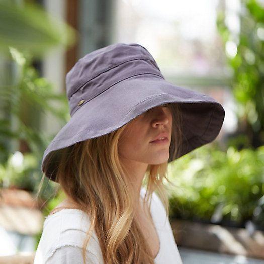 Sombrero pescador gris oscuro para playa verano 2021