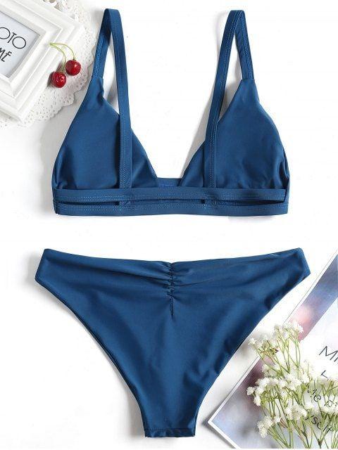 bikinis con tanga fruncida par arealzar gluteos