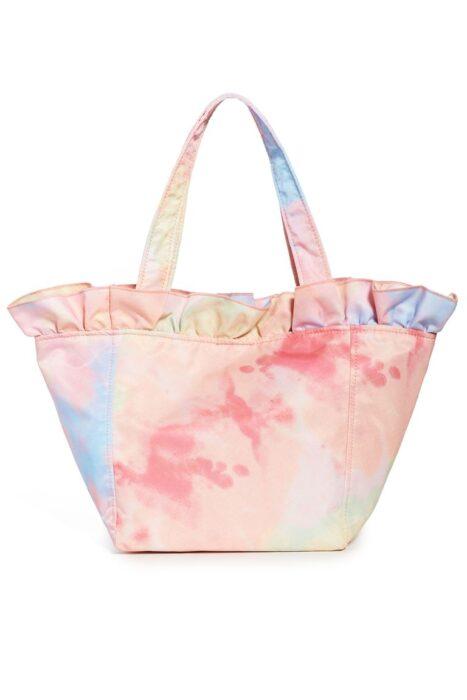 bolsa de playa estampado batik tonos pasteles