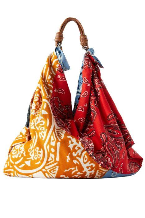 bolsa de playa estilo pañuelo