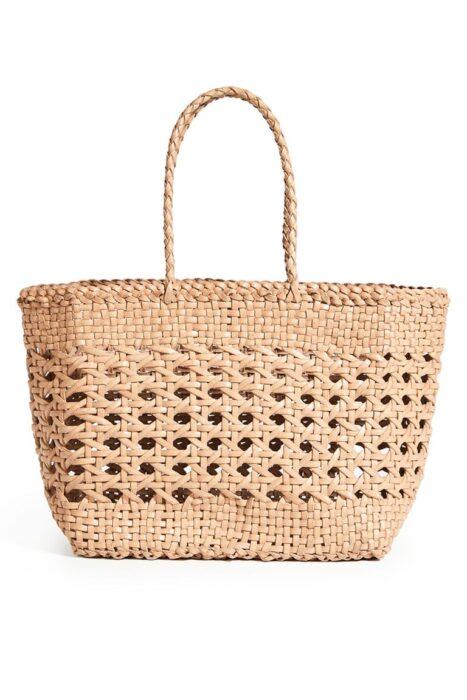 bolso de mimbre para playa