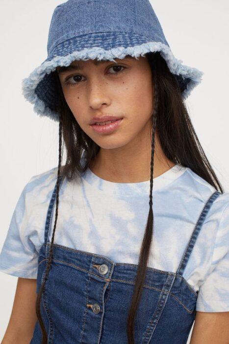 sombrero cubo para plya de jeans par amujer