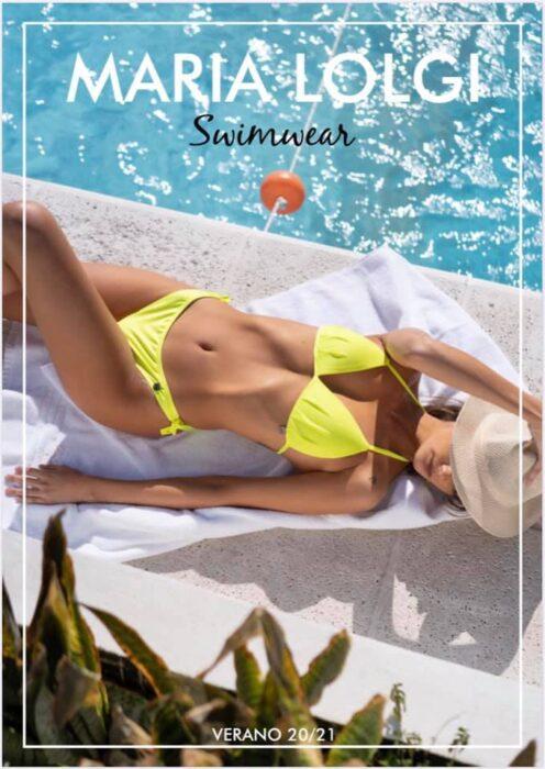 bikini amarilla MARIA LOLGI verano 2021