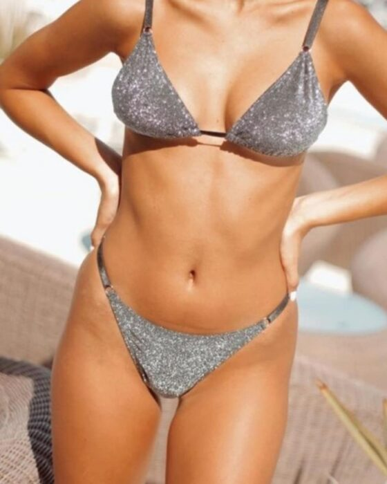 bikini lurax plateado verano 2021 Allegra