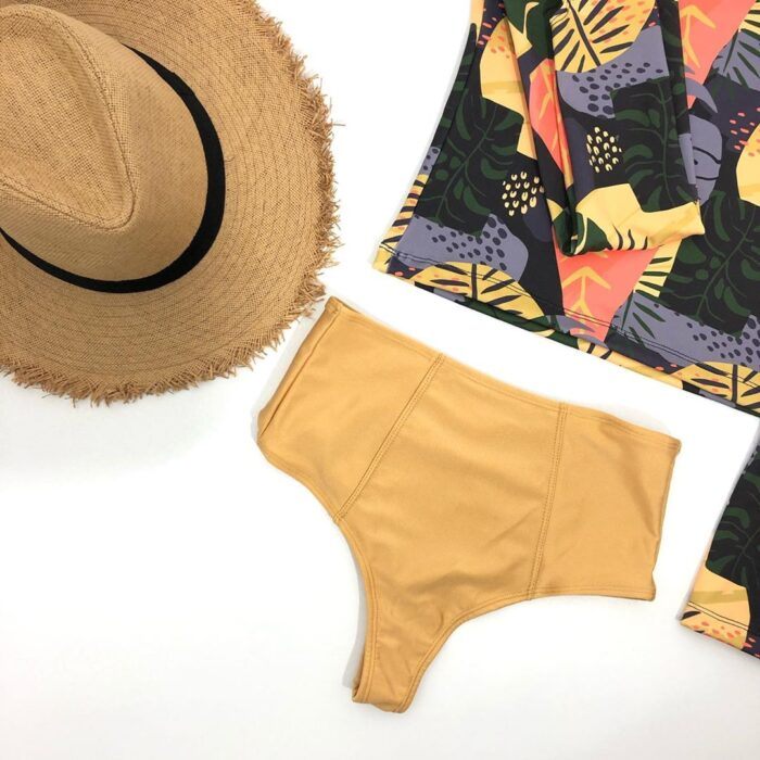 Bikinis con top ancho y tiro alto verano 2021 Anna Bikinis