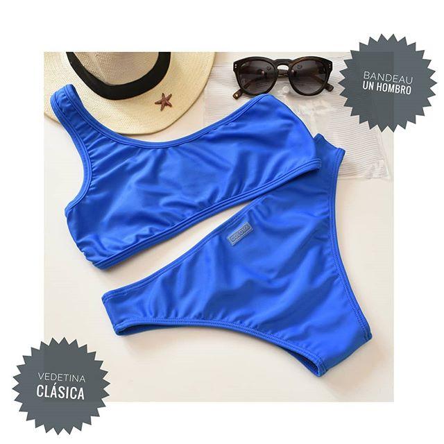 bikini azul un solo hombro verano 2021 Coloma