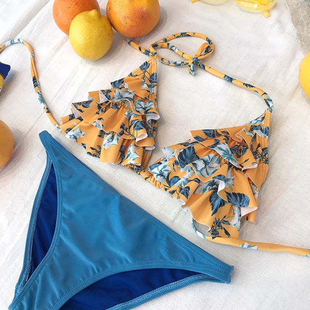 bikini naranja y azul verano 2021 Noxion