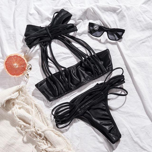 bikini negra engomada verano 2021 Elida