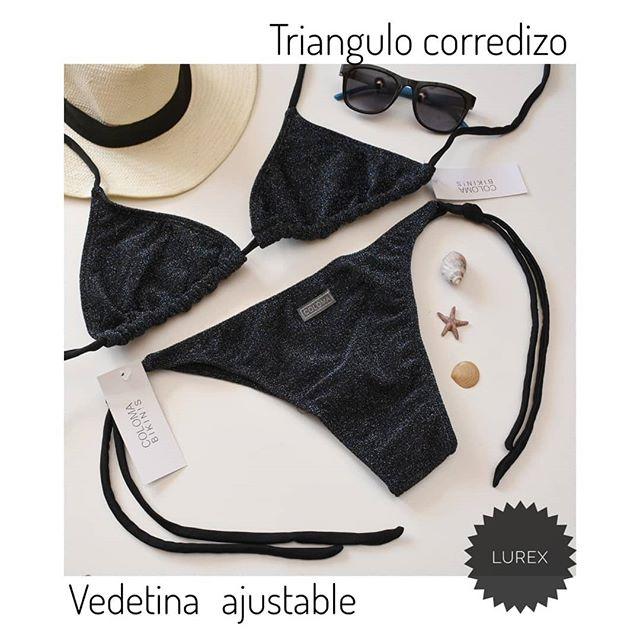 bikini triangulo lurex verano 2021 Coloma