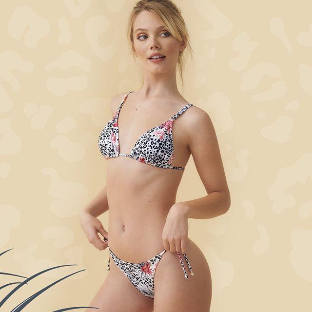 bikini estampdada marcela koury verano 2021