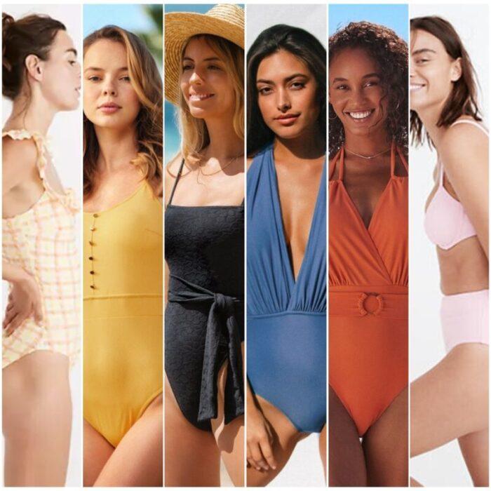 Colores de trajes de bano de moda verano 2022 Argentina