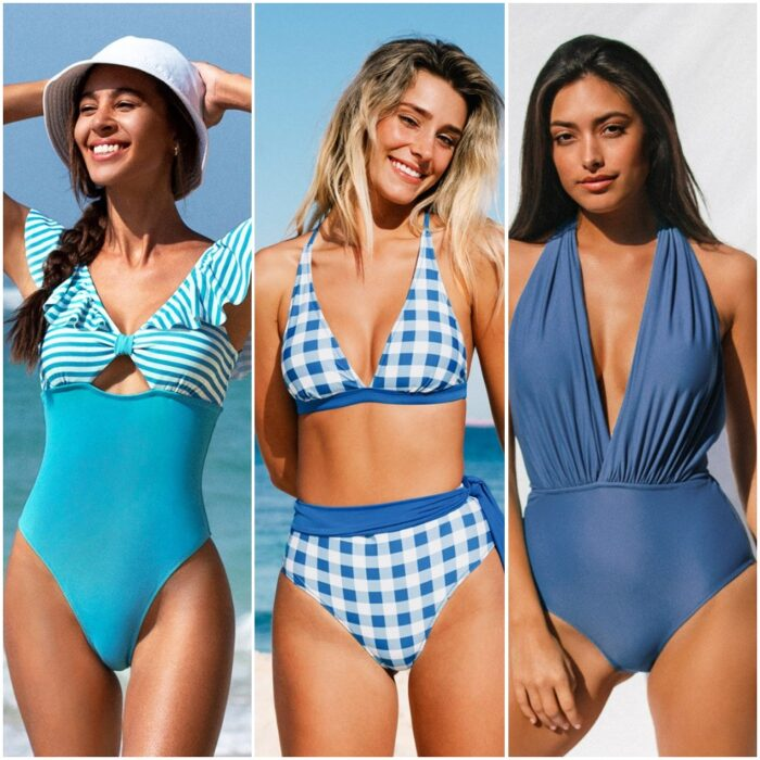 Traje de bano tonos azules trajes de bano de moda verano 2022 Argentina 1