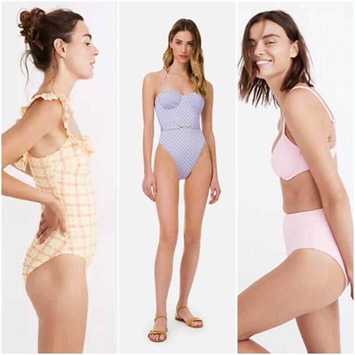 Traje de bano tonos claros trajes de bano de moda verano 2022 Argentina 1