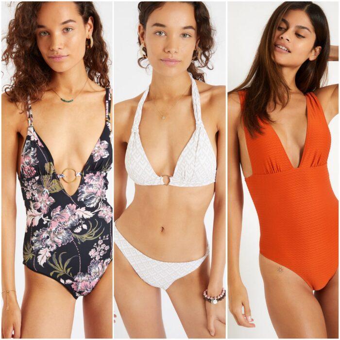 trajes de bano bikinis escote profundo verano 2022