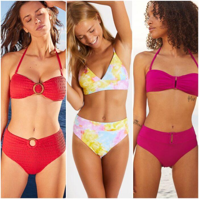 trajes de bano bikinis tiro alto verano 2022