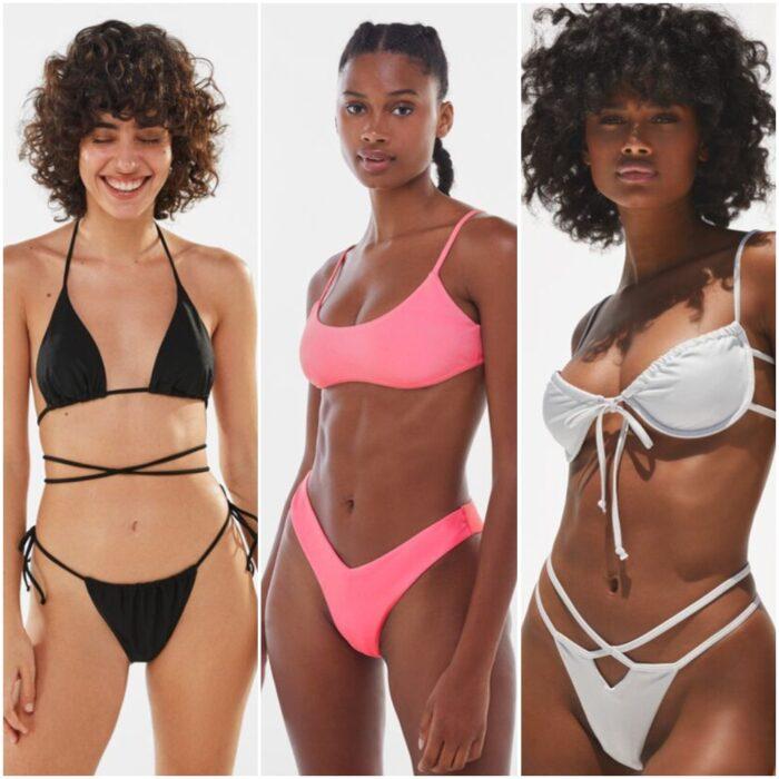 trajes de bano bikinis tiro en v verano 2022