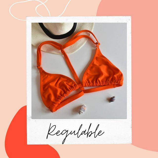 Coloma bikini naranja adelanta verano 2022