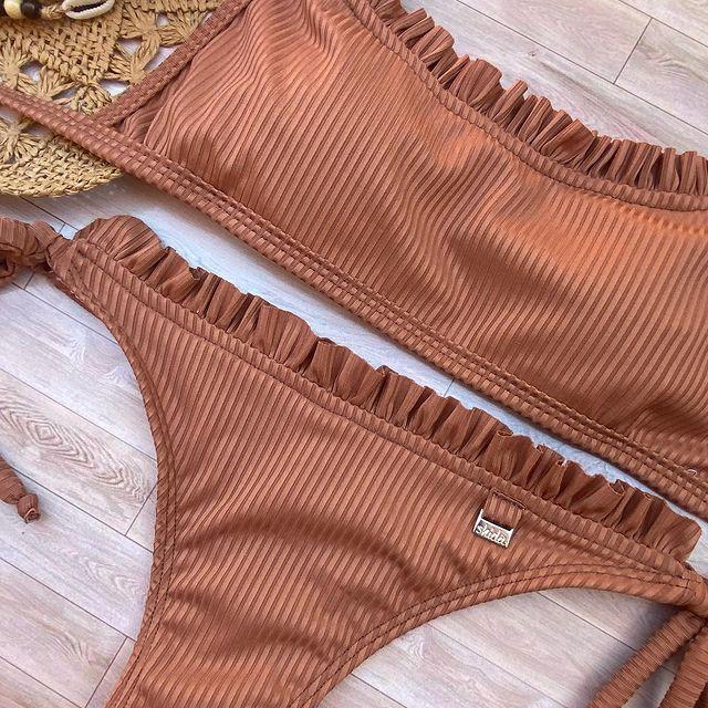 bikini color beige verano 2022 Shida